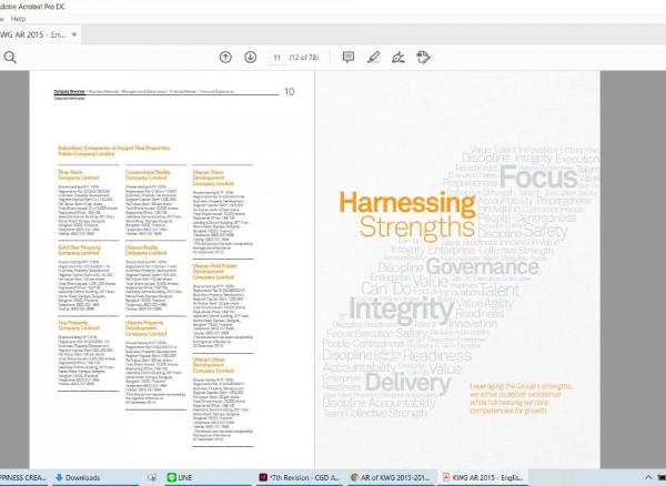 รับผลิตหนังสือรายงานประจำปี Annual Report